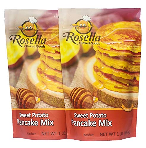 Gourmet Sweet Potato Pancake amp Waffle Mix By Rosella Baked Goods: Delicious amp Nutritious Vegan Breakfast amp Brunch Recipe With Healthy Quality Ingredients Fiber amp Vitamins 2Pack