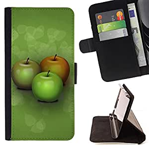 DEVIL CASE - FOR Samsung Galaxy S5 V SM-G900 - Three apples - Style PU Leather Case Wallet Flip Stand Flap Closure Cover