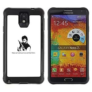 iKiki Tech / Estuche rígido - Ninja Gun Man Tough Strong Quote Funny Movie - Samsung Note 3