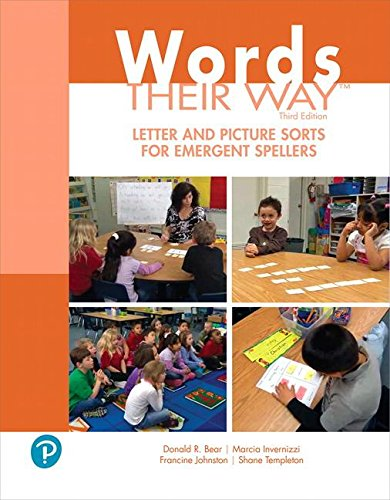 Words Their Way Letter and Picture Sorts for Emergent Spellers (3rd Edition)