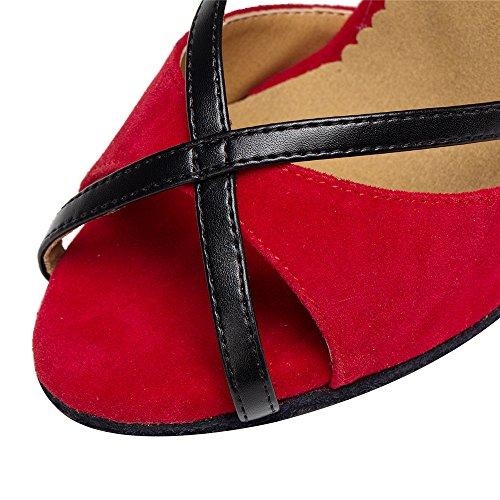 Mujer Zapatos De Baile Latino Capilla Chan Zapatos Red 6cm