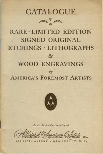 Original Lithograph Rare (Catalogue: Rare - Limited Edition - Signed Original Etchings - Lithographs & Wood Engravings by America's Foremost Artists)