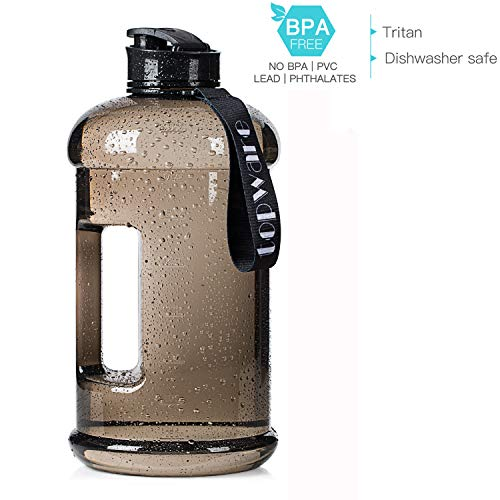 TOPWARE Dishwasher Safe New Material Tritan Plastic Hot Cold Water Jug Container Big Capacity 2.2L 75oz Half Gallon 1.3L 44oz Large Leakproof BPA Free Water Bottle for Fitness Camping Bicycle Gym – DiZiSports Store