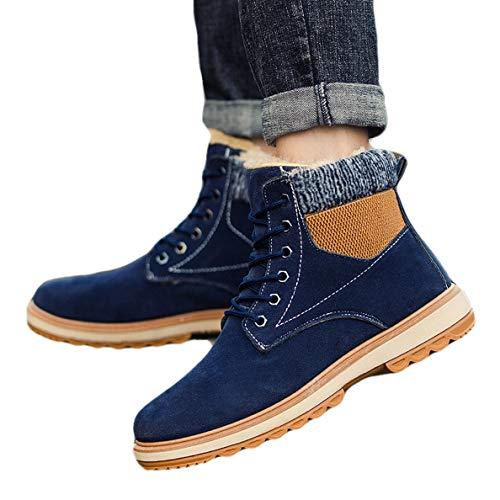 (GanQuan2018 Men's Work Boot Lace Up High-top Original Casual Winter Snow Boots)