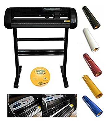 500g 24inch Cutting Plotter with Craftedge Softwar and 5yards Heat Press Transfer Vinyl Different Colors