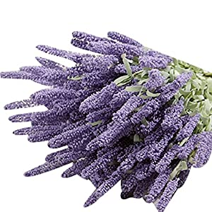 Holrea 12 Heads Artificial Fake Flower Lavender Wedding Bouquet High Simulation Silk Flowers for Centerpieces Wedding Party Baby Shower DIY Home Decorations (Light Purple) 117