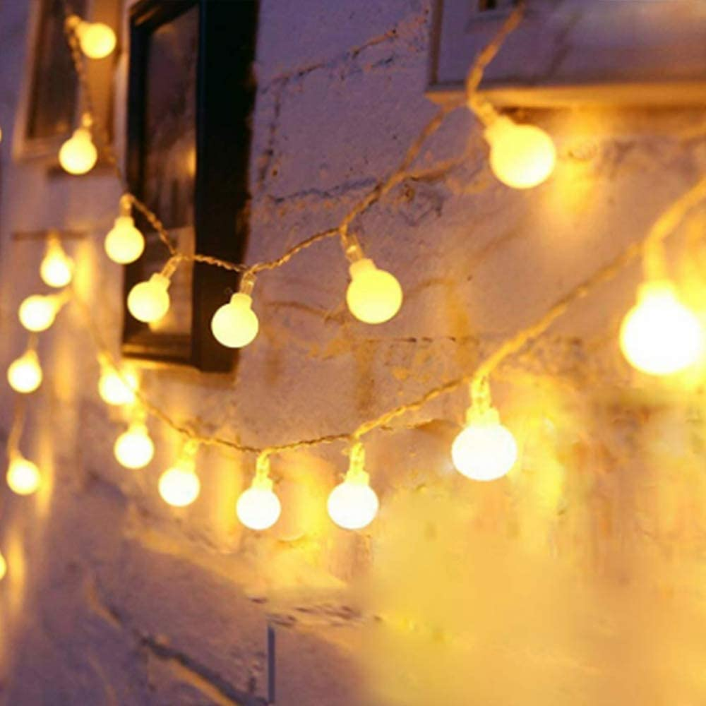Amazon Com Yotelim Globe String Lights Battery Operated Warm White Water Proof 2 Pack 19 7ft 40 Led Globe Fairy String Light 8 Modes With Remote Control For Home Party Christmas Wedding Garden