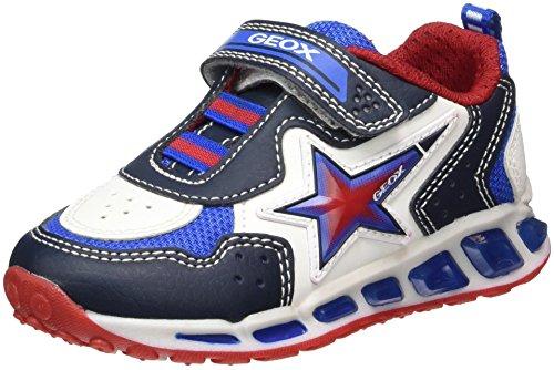 Geox Shuttle B, Zapatillas Para Niños Azul (Navy/white)