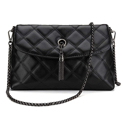 Quilted Leather Clutch Bag - 8