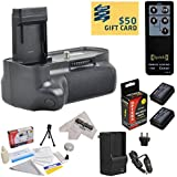 Professional Vertical Battery Grip With Sure Grip Technology For the Canon EOS Rebel T3 T5 1100D 1200D Kiss X50 Digital SLR Cameras Includes 2 Extended Life Canon LP-E10 LPE10 Replacement Battery Packs (2000MAH Each 4000MAH in Total) + 1 hour AC/DC Rapid Battery Charger + Wireless Shutter Release Remote Control + Deluxe Lens Cleaning Kit + LCD Screen Potectors + Mini Tripod + 47stphoto Microfiber Cloth Photo Print !