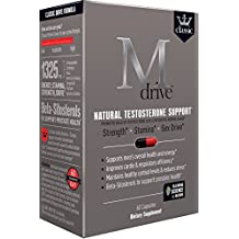 Mdrive Classic Naturally Increase Testosterone with KSM-66 Ashwagandha, LJ100 Tongkat Ali, and Cordyceps, 60 Capsules
