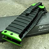 MTECH Ballistic GREEN SAWBACK Tanto Skull Spring Assisted Open Pocket Knife NEW