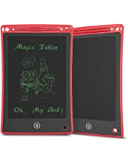 Doosl Tableta de Escritura LCD, Tableta para Escribir y Hacer Bocetos de 8,5 Pulgadas - Tableta de Escritura Mini Pad Tableta de Dibujo para uso en la Escuela, el Hogar, la Oficina y los Viajes - Rojo