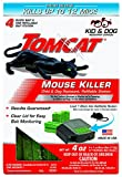 Tomcat Mouse Killer Refillable Station for Indoor/Outdoor Use - Child and Dog Resistant (1 Station with 4 Baits)