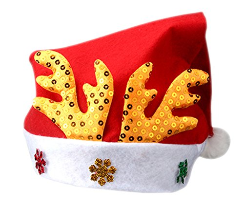 5 Blinking Leds Garden - Christmas Hats Santa Hat Child Baby Antlers Cartoon (age:2-8)