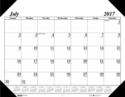 House of Doolittle 2017-2018 Monthly Desk Pad Calendar, Academic, Economy, 22 x 17 Inches, July - August (HOD12502-18)