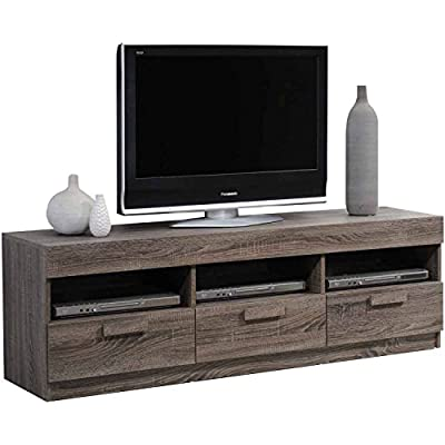 """ACME Alvin Rustic Oak TV Stand for Flat Screen TVs up to 60"""""""