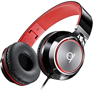 Best Epic Trends 51zZSvfnKyL._SS300_ Artix CL750 Foldable Noise Isolating On Ear Headphones Wired with Microphone and Volume Control, Stereo Head Phones…