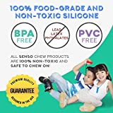 Sensory Chew Necklace Bundle - Silicone Chewies for Autism, ADHD, Biting, Oral Motor Chewy Stick/Tube Toy Jewelry for Boys, Girls, Kids, Adults - by SENSO MINDS