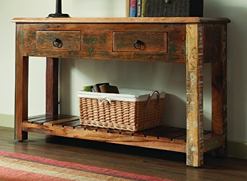 Coaster Home Furnishings 2-Drawer Console Table Reclaimed Wood ()