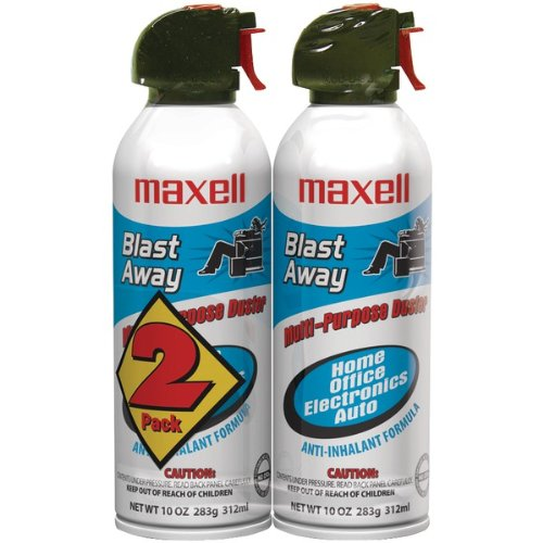 MAXELL 190026 CA-4 Canned AIR 10OZ 2-Pack by Maxell