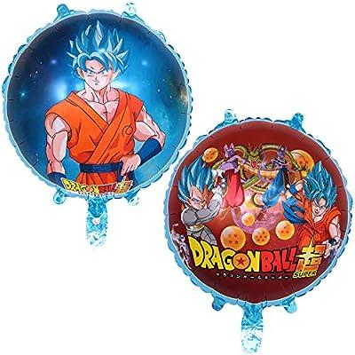 Amazon Dragon Ball Z Balloons 2 Pack Birthday Celebration DragonballZ Balloon Set Double Sided DBZ Goku Gohan Character Party Decorations
