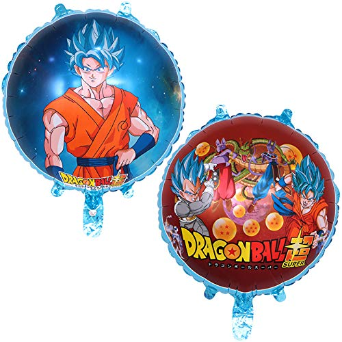 Dragon Ball Z Balloons (2 Pack), Birthday Celebration DragonballZ Balloon Set, Double Sided DBZ Goku Gohan Character Party Decorations - By Ultra Rare