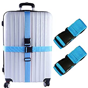 Travelquantum - Compare Cheap Flights, Hotels & Car Hire. 51zZU6jUxYL._SS300_ Darller 2 PCS Luggage Straps Suitcase Belts Travel Accessories Bag Straps