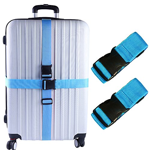 - Darller 2 PCS Luggage Straps Suitcase Belts Travel Accessories Bag Straps