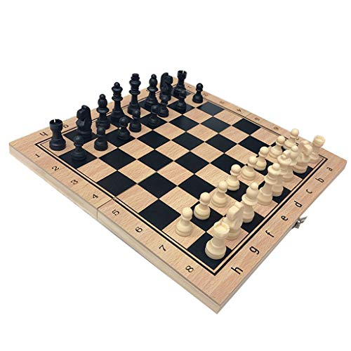Daily Mall Chess / Checkers / Backgammon 3 in 1 Set, Portable Folding Travel Chess Board for Kids Adults - 4 34x34cm from Daily Mall