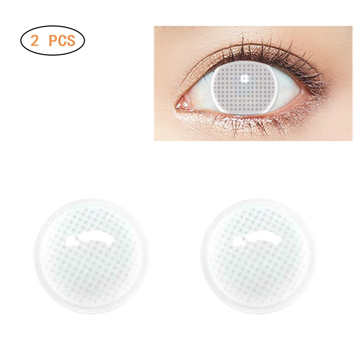 Women Multi-Color Cute Charm and Attractive Fashion Contact Lenses Cosmetic Makeup Eye Shadow Zombie,Cat Eye by Yeawooh(Annual Throw)