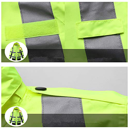 SXZHSM-Toy model Detachable Cotton Coat, Reflective Raincoat, Reflective Clothing, Traffic Duty, Raincoat, Construction, Raincoat, Riding Raincoat Reflective Vests (Size : M) by SXZHSM-Toy model (Image #3)