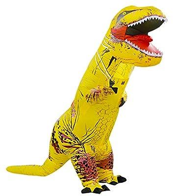 T-Rex Originals T-Rex Costume Inflatable Dinosaur Suit Halloween Adult Inflatable Costume (Yellow)