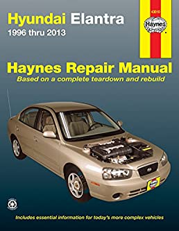 hyundai elantra 1996 thru 2013 haynes repair manual editors of rh amazon com