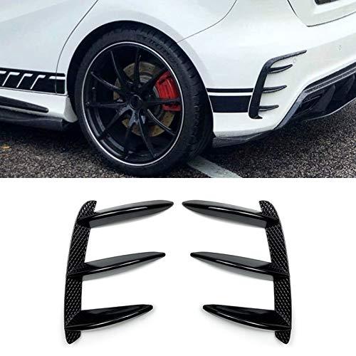 Color : Black GSOLOYL Coche Negro Parachoques Trasero Aler/ón flanco de la Cola del Viento Cuchillo for Mercedes-Benz Clase A W176 A200 A260
