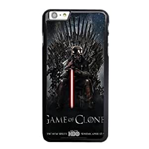 Wunatin Hard Case ,iPhone 6 6S 4.7 inch Cell Phone Case Black Star Wars Game of Thrones [with Free Tempered Glass Screen Protector]5691265301787