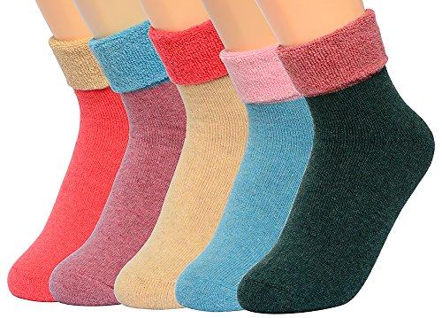 Women's Terry Crew Socks Winter Outdoor Cotton ...