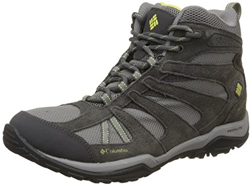 Columbia Women's Dakota Drifter Mid Waterproof Hiking Boot, Light Grey, Sunnyside, 7 B US by Columbia