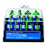 Task Tools 02430 Tuf-E-Nuf 15-Piece Router Bit Set with 1/4-Inch Shanks