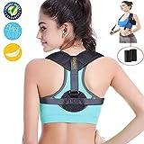 Eoney Posture Corrector for Women & Men Under Clothes Effective and Adjustable Shoulder Belt for Slouching & Hunching Upper Back Brace (FDA Approved)