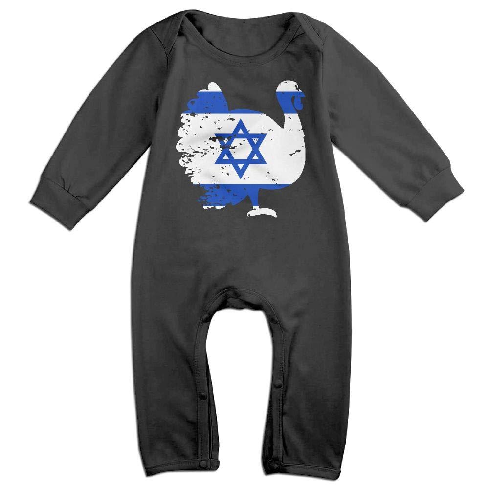 Mri-le1 Newborn Kids Coverall Israel Patriotic Turkey Thanksgiving Baby Clothes