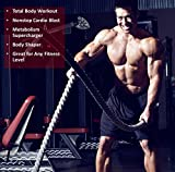 BATTLE-ROPES-with-ANCHOR-KIT-by-FireBreather-Training-Best-Workout-Equipment-for-Total-Body-Exercise-to-improve-Cardio-Strength-Power-Premium-15-Inch-Poly-Dacron-Battling-Rope-in-30-40-50-Ft