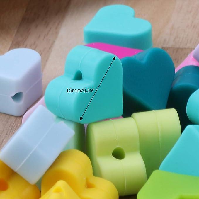 10 St/ück Silikon-Perlen Lyguy Baby Spielzeug DIY Schnuller Zubeh/ör Babyblau Silikon-Perlen