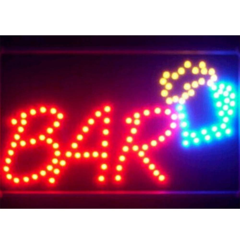 CHENXI New Animated BAR//Beer//Wine//Liquor NEON LED Store Open Sign 19 X 10 Inch Hanging Chain Lots of Styles BAR Beer Pub ON Off Switch 48 X 25 cm 48 X 25 cm, Bar