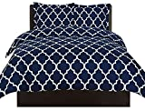 Utopia Bedding Printed Duvet Cover Set (King, Navy) - Hotel Quality Luxurious Brushed Velvety Microfiber - Soft and Durable - Wrinkle, Fade and Stain Resistant - Machine Washable