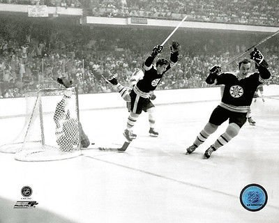 Bobby Orr Boston Bruins famous Stanley Cup winning FLYING GOAL 8x10