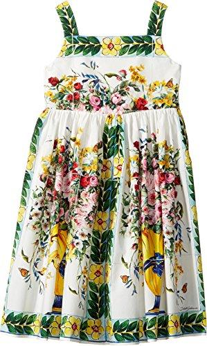 Dolce & Gabbana Kids Baby Girl's Caltagirone Vase Print Poplin Dress (Toddler/Little Kids) Floral Vase Print Dress by Dolce & Gabbana (Image #2)