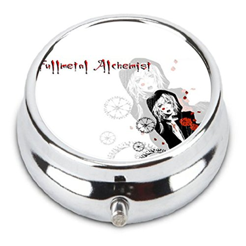 Price comparison product image FULL METAL ALCHEMIST Custom Fashion Pill Box Medicine Tablet Holder Organizer Case for Pocket or Purse