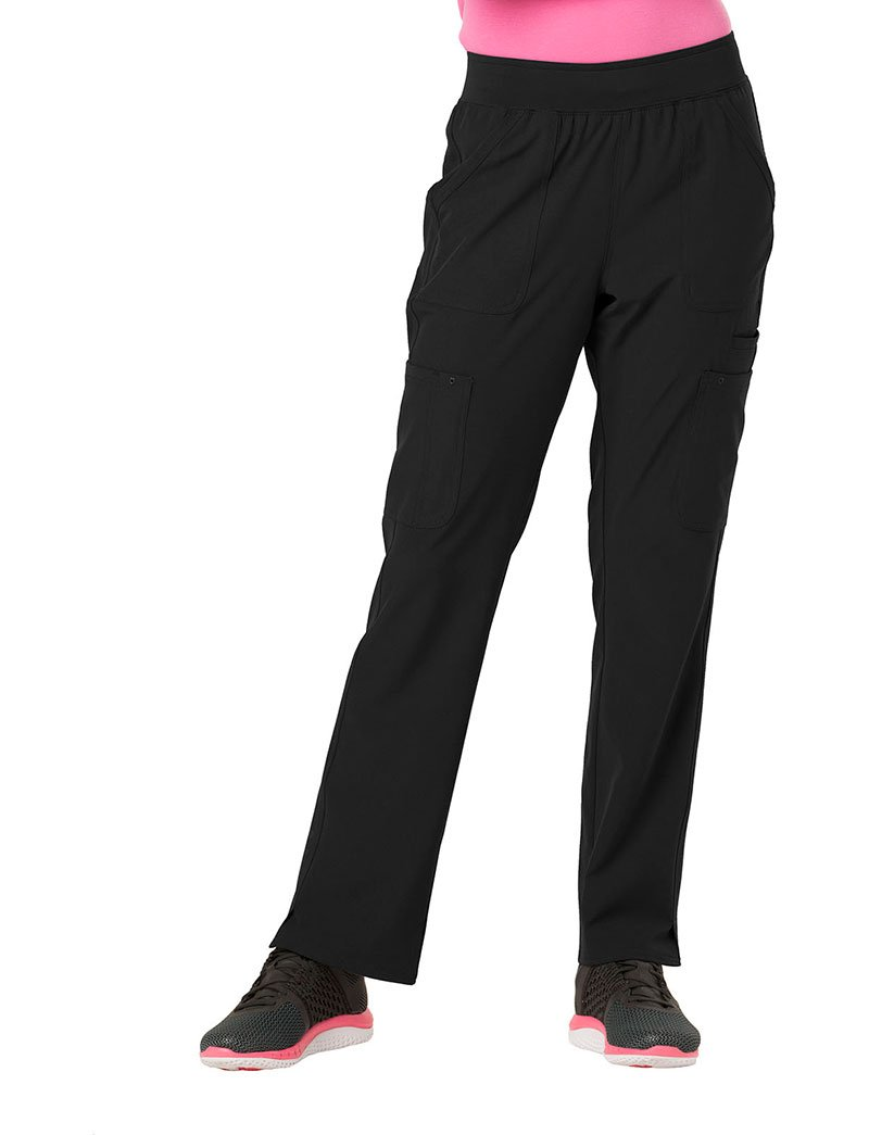 HeartSoul Break On Through by Women's Drawn to Love Low Rise Cargo Scrub Pant Small Tall Black
