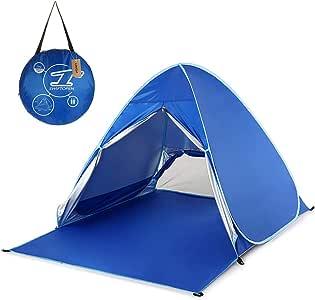 FSD-MJ Protección UV Tienda de campaña automática Tienda de Playa Tienda de campaña para Acampar al Aire Libre Ventana emergente Amortiguador de Sol Ligero Carpas Toldo Toldo: Amazon.es: Deportes y aire libre